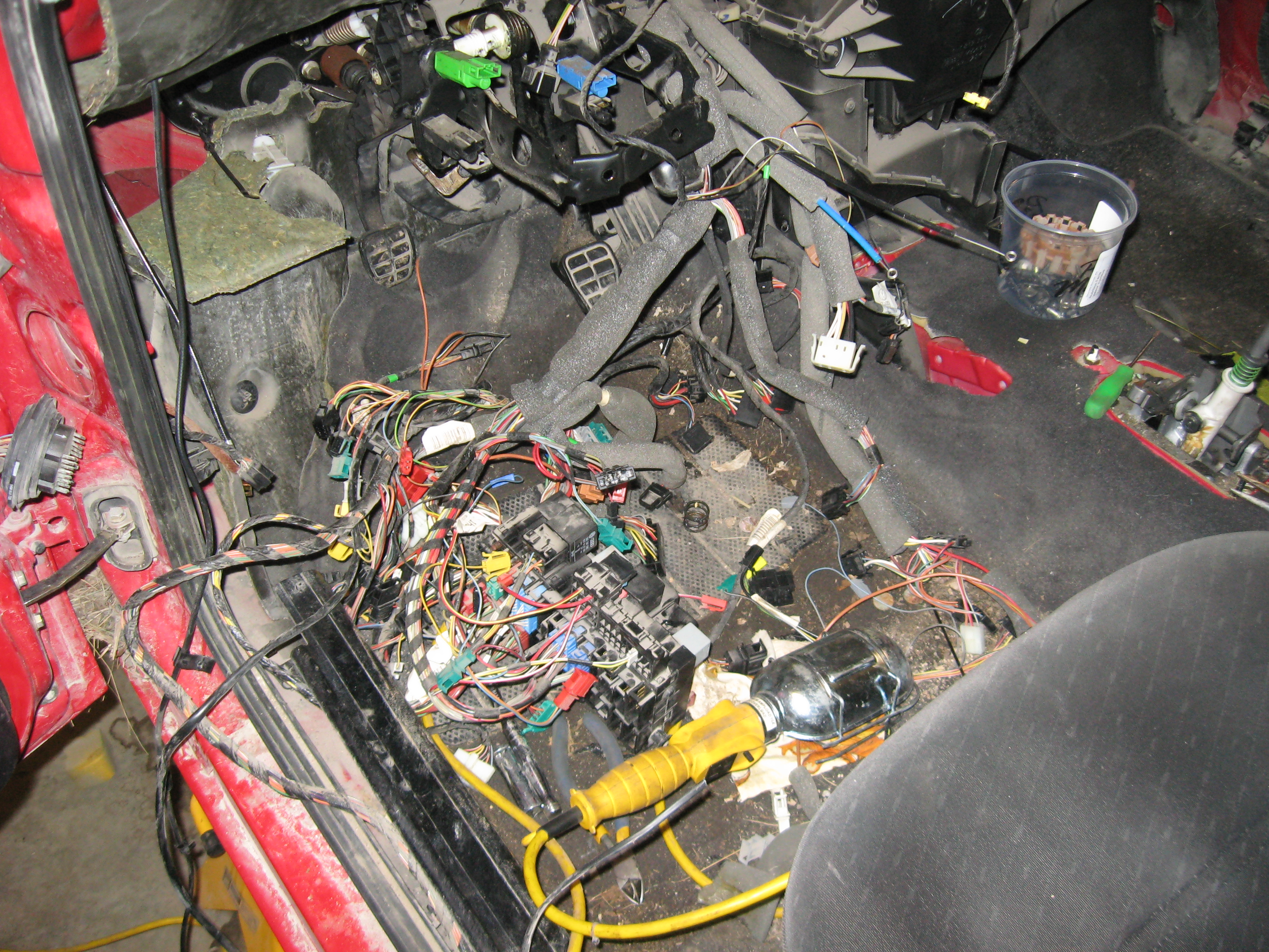 Copper Weight Loss Program Wiring Harness The Whole Vw Is A Pretty Complex Piece Of Engineering But When You Break It Down Wire By Its Not That Bad I Wanted To Keep Everything